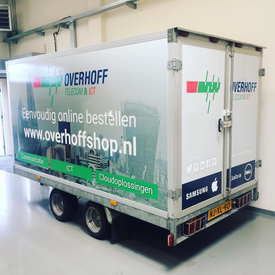 Wrap aanhanger Overhoff - Bestickering