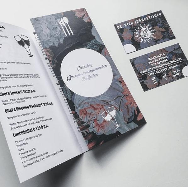Flyer en kaart voor Vier jaargetijden Zwolle
