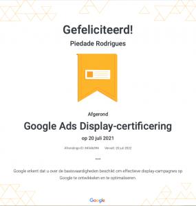 google-ads-display-certificaat